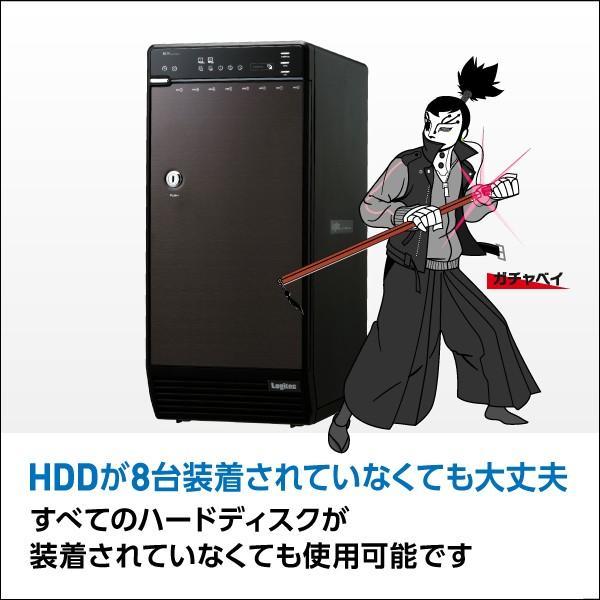 HDDケース 8台搭載可能 3.5インチ SATAハードディスク対応 RAID機能なし USB3.0 eSATA ロジテック LHR-8BNHEU3|logitec|03