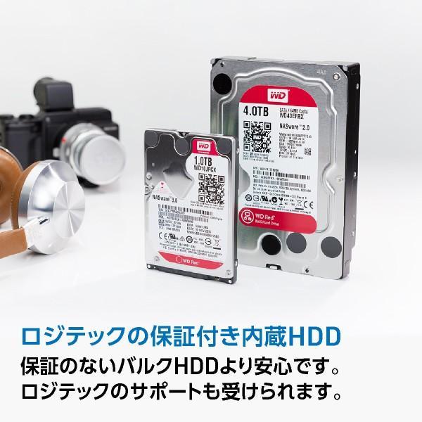 内蔵HDD 8TB WD Red WD80EFZX 3.5インチ 内蔵ハードディスク ロジテックの保証・ダウンロードソフト付 LHD-WD80EFZX|logitec|02
