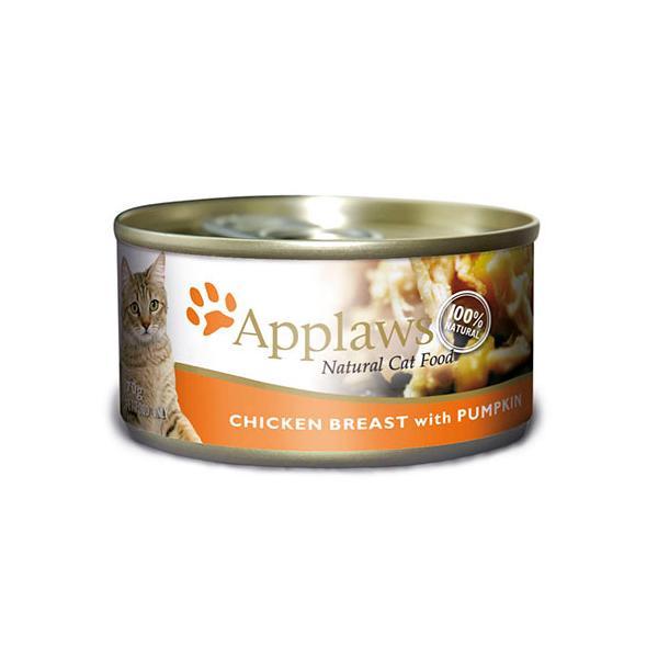 【正規輸入品】アプローズ 鶏の胸肉とかぼちゃ(缶) 猫用 70g