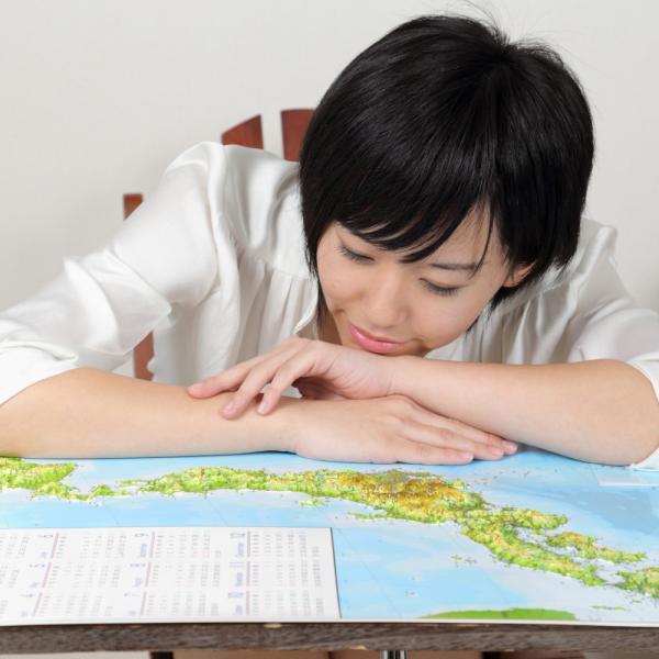 立体日本地図カレンダー2019年度版(額なし)|lohasshop-y|14