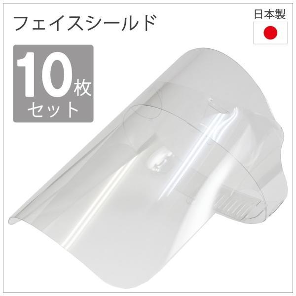 日本製 簡易式組み立てフェイスシールド 10枚組|lohasshop-y