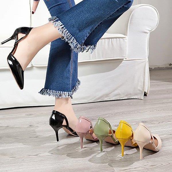 パンプス 痛くない 走れる レディース シューズ 結婚式 美脚 靴 オフィス カジュアル 春新作 8cmヒール サンダル lohasten 05