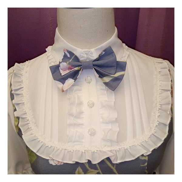 通年 ロリータクラシックドレス ブラウス付き リボン フリルレース 姫袖 蝶ネクタイ フロントリボン|loliloli|05