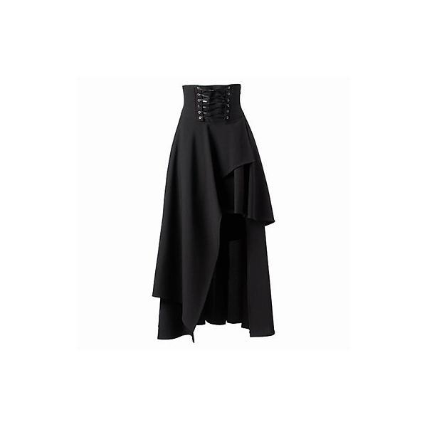 ゴスロリアシンメトリーロングスカート 魔女 ゴスロリ アシメ スカート|loliloli