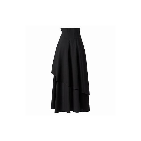 ゴスロリアシンメトリーロングスカート 魔女 ゴスロリ アシメ スカート|loliloli|02