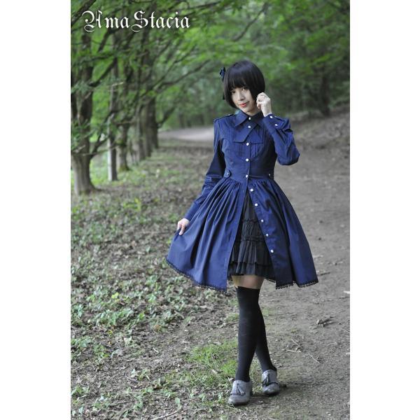 【受注生産納期1カ月】ロリータ AmaStacia アーミー制服風ワンピース ワンピのみ ゴスロリ|loliloli