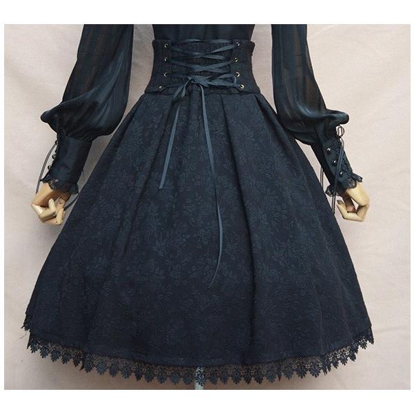 ロリータ コルセットハイウエストスカート スカートのみ クラシック クラロリ ゴスロリ|loliloli|05