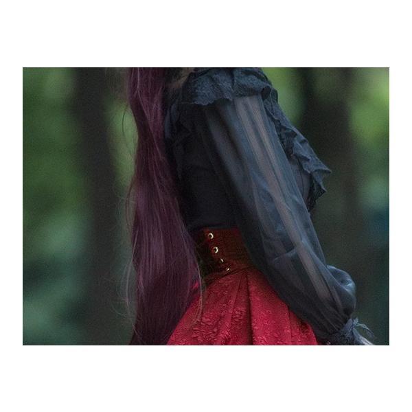 ロリータ コルセットハイウエストスカート スカートのみ クラシック クラロリ ゴスロリ|loliloli|08