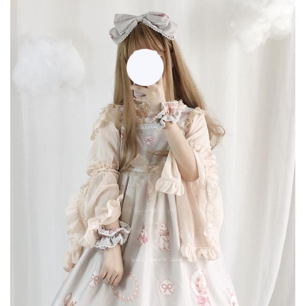 ロリータ ボリューミー姫袖ブラウス ブラウスのみ 長袖 透け感 甘ロリ ゴスロリ|loliloli