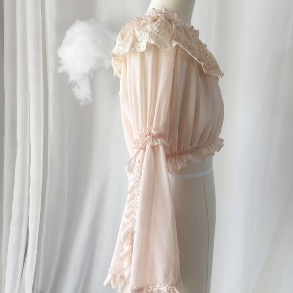 ロリータ ボリューミー姫袖ブラウス ブラウスのみ 長袖 透け感 甘ロリ ゴスロリ|loliloli|08