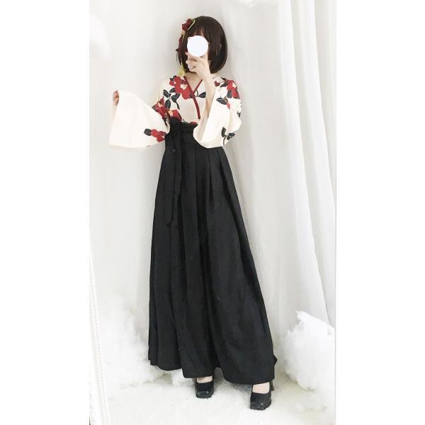 ロリータ 和ロリ 椿柄女学生袴風2ピース tops+bottoms 和風 スカート 和柄 セット|loliloli|04