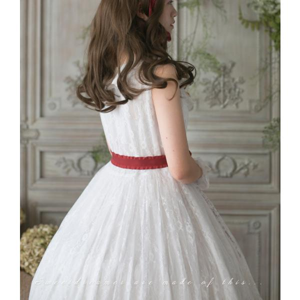 ロリータ SweetDreamer Vintage French純白ドレス チョーカープレゼント 白ロリ 姫ロリ ワンピース|loliloli|04