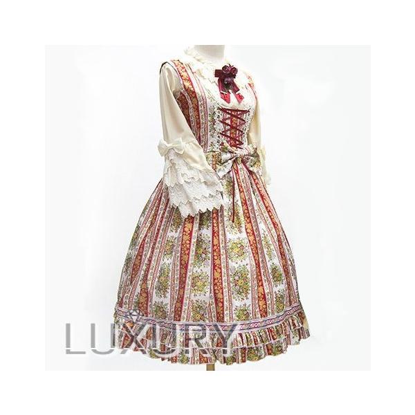ロリータ SweetDreamer Vintage 小花柄ジャンパースカート ジャンスカのみ 甘ロリ 姫ロリ リボン フリル|loliloli