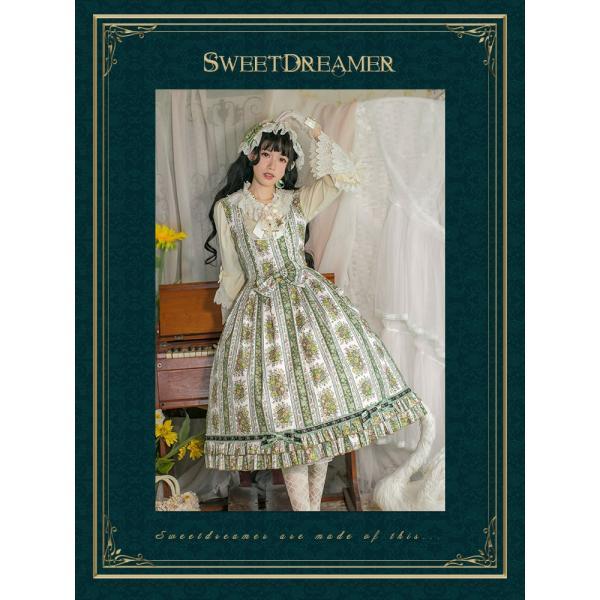 ロリータ SweetDreamer Vintage 小花柄ジャンパースカート ジャンスカのみ 甘ロリ 姫ロリ リボン フリル|loliloli|02