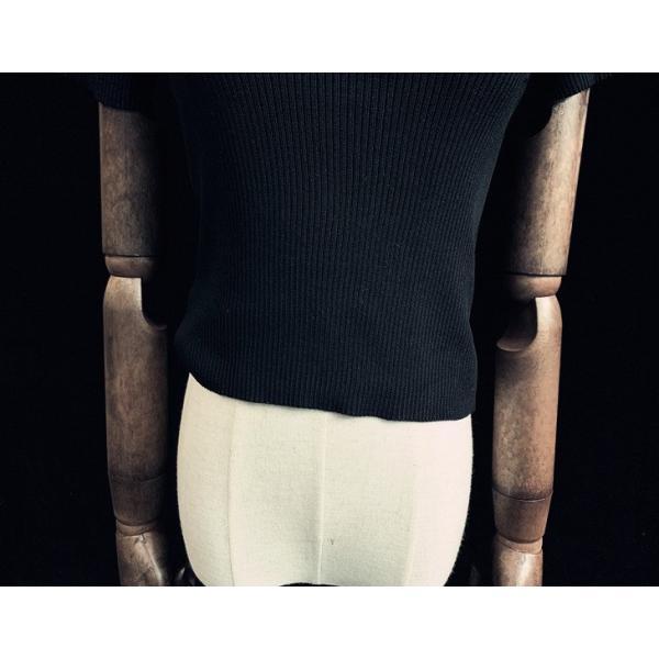 5a1f61647b01b ... ゴスロリ タイトポロシャツ ショート丈 タイト設計 セクシー へそだし カジュアル ブラック 夏物 トップス|loliloli
