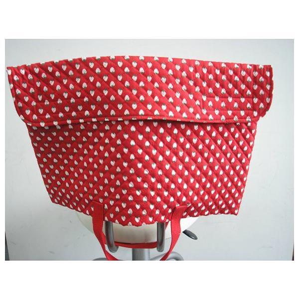 防災頭巾カバー 防災ずきんカバー(子ども用・手提バック兼用)赤いちご柄