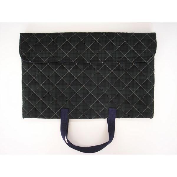 防災頭巾カバー(子ども用・手提バック兼用)ブラックウォッチ柄