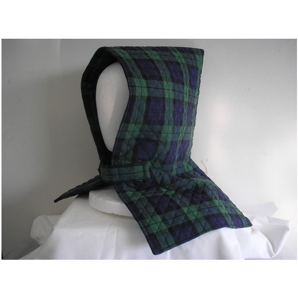 防災頭巾  座布団兼用防災頭巾(子供用) グリーンチェック柄2種類の生地からお選びください