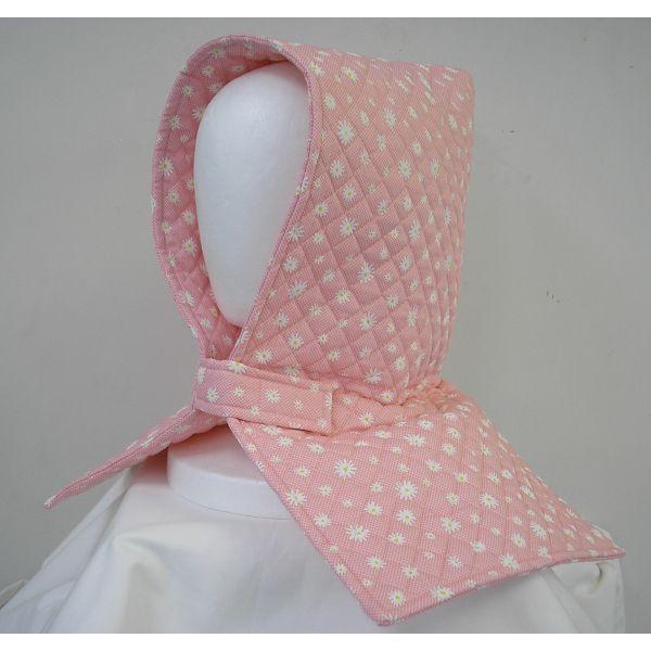 防災頭巾 座布団兼用防災頭巾(子供用)ピンク地に白いお花柄