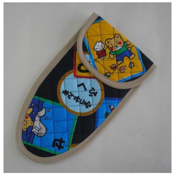 ハサミケース 子供用はさみケース(かるた柄・外枠の色でお選び頂けます) 入学