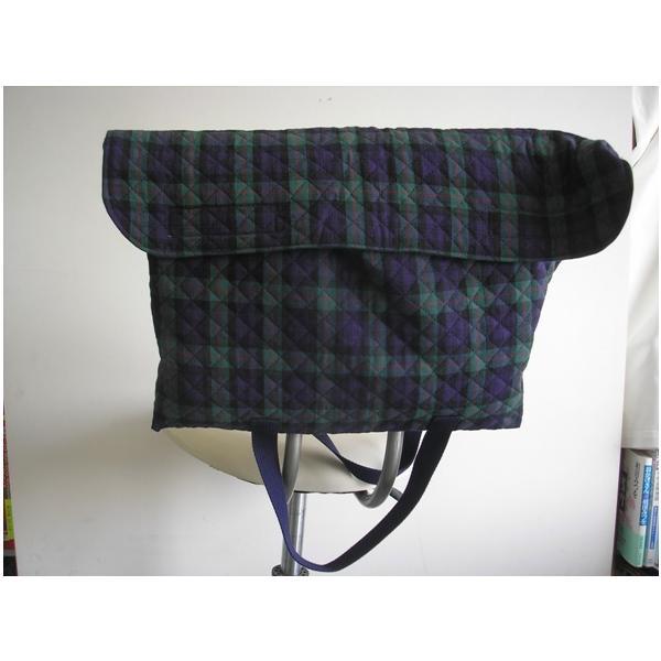 防災頭巾カバー  防災ずきんカバー(子ども用・手提バック兼用)グリーンチェック柄2種類の生地からお選びください