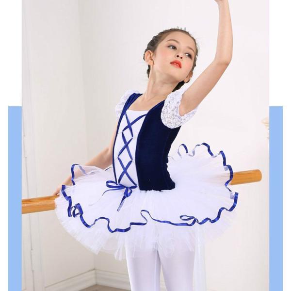 バレエ レオタード 子供用 半袖 バレエ用品 ダンス衣装 キッズ ガールズ ジュニア用 セットアップ 発表会  練習着 スカート付 レッスン 新体操|lolostore|05