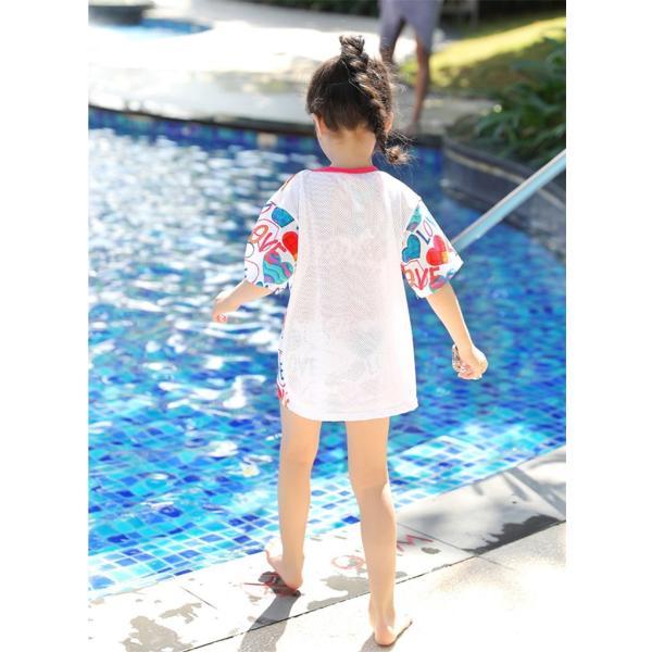 レディース 水着 子供水着 ビキニ Tシャツ 体型カバー UVカット 花柄 ビキニ 3点セット ゆったり 女の子 お尻カバー セパレート水着 10代 20代 30代 40代|lolostore|12