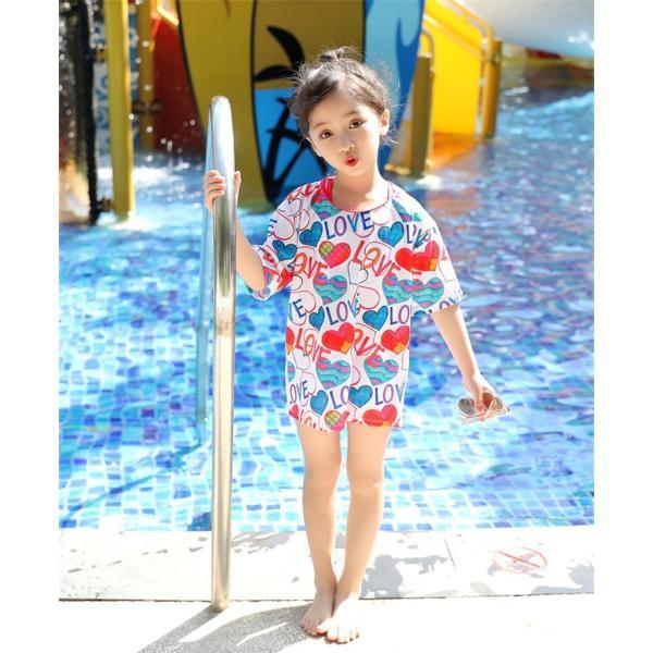 レディース 水着 子供水着 ビキニ Tシャツ 体型カバー UVカット 花柄 ビキニ 3点セット ゆったり 女の子 お尻カバー セパレート水着 10代 20代 30代 40代|lolostore|07