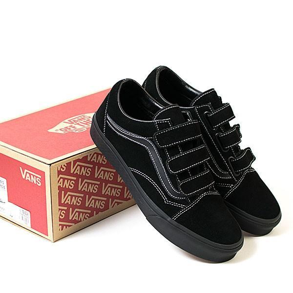 VANS バンズ OLD SKOOL VELCRO オールドスクール ローカットスニーカー BLACK VN0A3D29QWL|london-game|08
