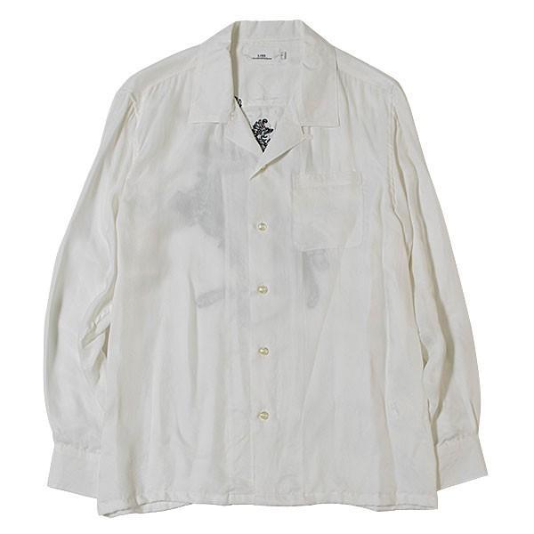刺繍入りオープンカラーシャツ EMBROIDERY OPEN COLLAR SHIRT リス Liss メンズ|london-game|02