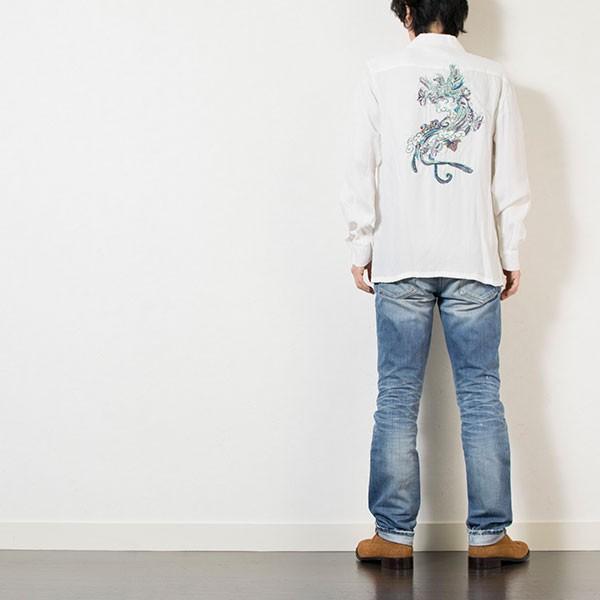 刺繍入りオープンカラーシャツ EMBROIDERY OPEN COLLAR SHIRT リス Liss メンズ|london-game|12