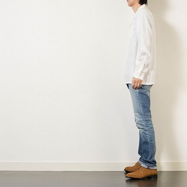 刺繍入りオープンカラーシャツ EMBROIDERY OPEN COLLAR SHIRT リス Liss メンズ|london-game|13
