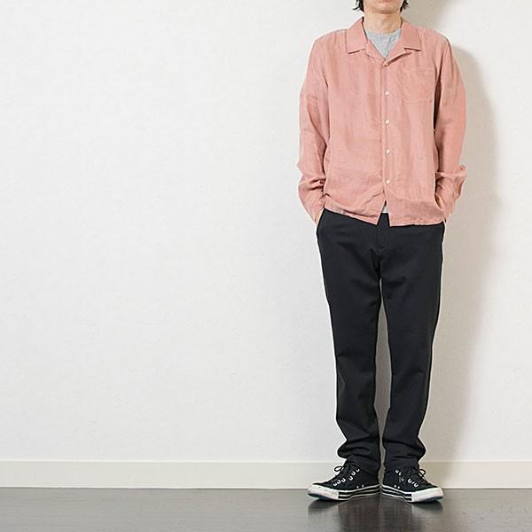 刺繍入りオープンカラーシャツ EMBROIDERY OPEN COLLAR SHIRT リス Liss メンズ|london-game|14