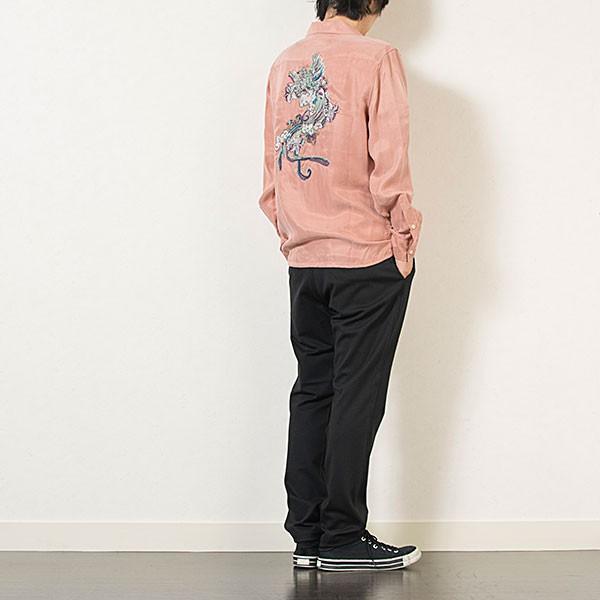 刺繍入りオープンカラーシャツ EMBROIDERY OPEN COLLAR SHIRT リス Liss メンズ|london-game|15