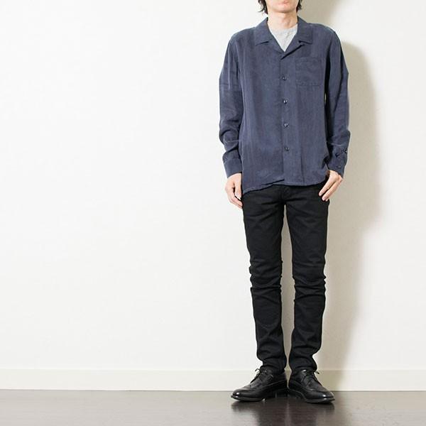 刺繍入りオープンカラーシャツ EMBROIDERY OPEN COLLAR SHIRT リス Liss メンズ|london-game|16