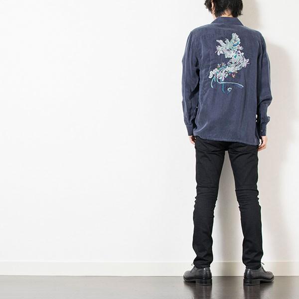 刺繍入りオープンカラーシャツ EMBROIDERY OPEN COLLAR SHIRT リス Liss メンズ|london-game|17