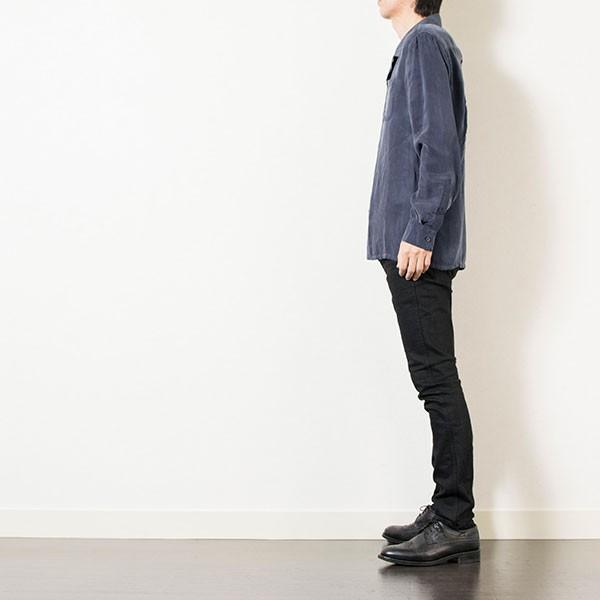 刺繍入りオープンカラーシャツ EMBROIDERY OPEN COLLAR SHIRT リス Liss メンズ|london-game|18