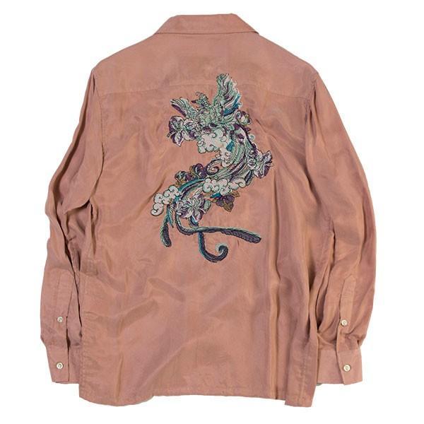 刺繍入りオープンカラーシャツ EMBROIDERY OPEN COLLAR SHIRT リス Liss メンズ|london-game|05