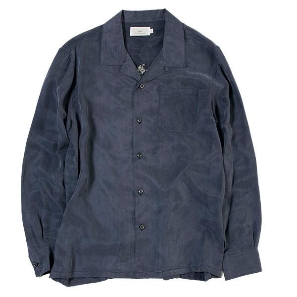 刺繍入りオープンカラーシャツ EMBROIDERY OPEN COLLAR SHIRT リス Liss メンズ|london-game|06