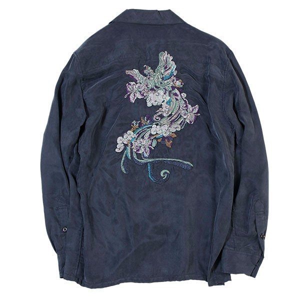 刺繍入りオープンカラーシャツ EMBROIDERY OPEN COLLAR SHIRT リス Liss メンズ|london-game|07