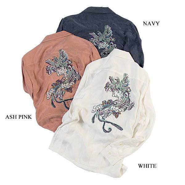 刺繍入りオープンカラーシャツ EMBROIDERY OPEN COLLAR SHIRT リス Liss メンズ|london-game|08