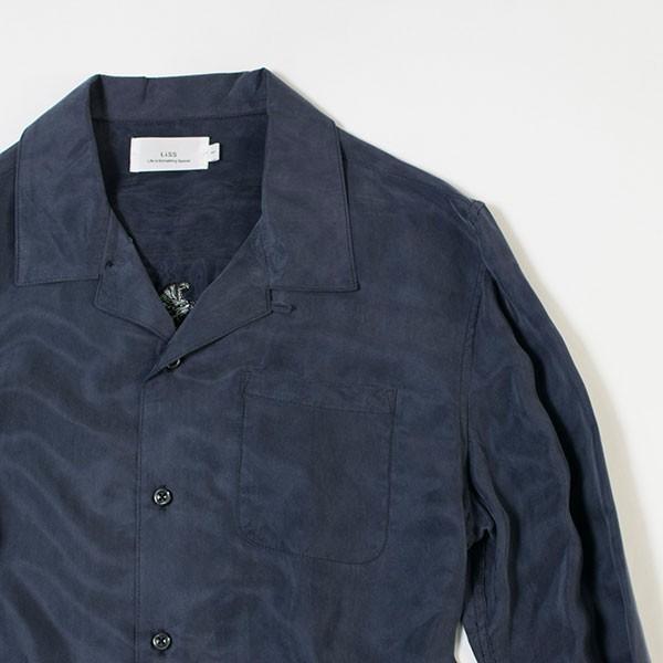 刺繍入りオープンカラーシャツ EMBROIDERY OPEN COLLAR SHIRT リス Liss メンズ|london-game|10