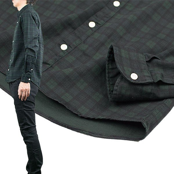 シャーリング ボタンダウンシャツ SHIRRING B.D SHIRT オーディエンス Audience メンズ|london-game|17