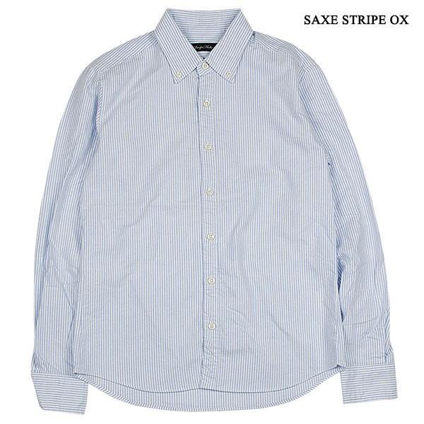 シャーリング ボタンダウンシャツ SHIRRING B.D SHIRT オーディエンス Audience メンズ|london-game|03
