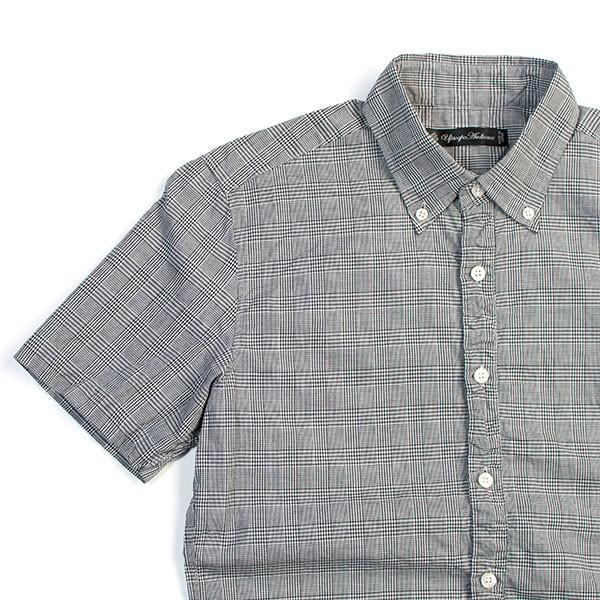 シャーリング 半袖 ボタンダウンシャツ SHIRRING B.D SHIRT オーディエンス Audience メンズ|london-game|08