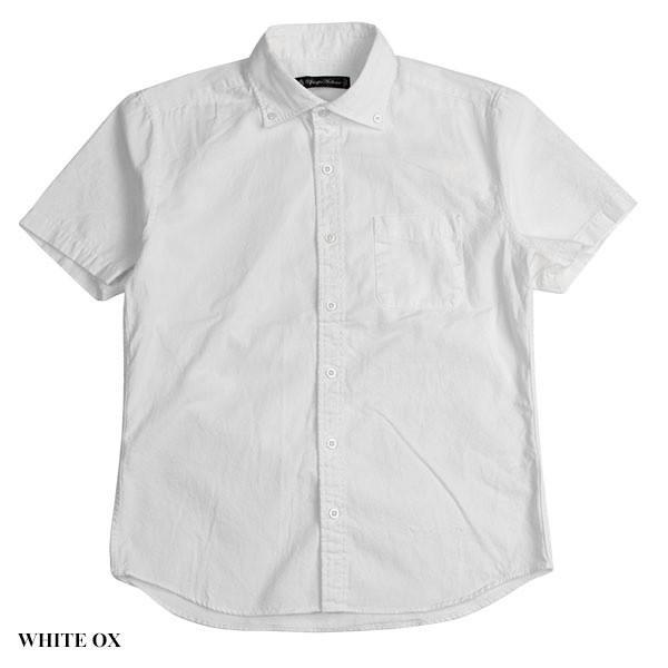 ワイドスプレッド 半袖 ボタンダウンシャツ WIDE SPREAD B.D SHIRT オーディエンス Audience メンズ|london-game|02