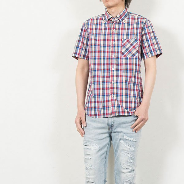 ワイドスプレッド 半袖 ボタンダウンシャツ WIDE SPREAD B.D SHIRT オーディエンス Audience メンズ|london-game|16