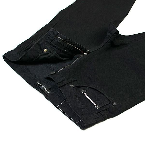 黒×黒 ストレッチデニム アンクルパンツ STRETCH DENIM ANKLE PANTS|london-game|04
