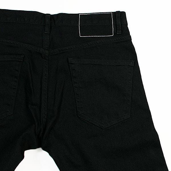 黒×黒 ストレッチデニム アンクルパンツ STRETCH DENIM ANKLE PANTS|london-game|06