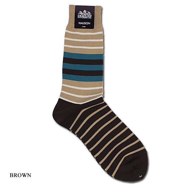 HALISON ハリソン 靴下 ソックス コンビボーダー|london-game|02